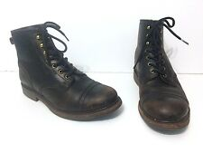 Men's RRL Bowery Dark Brown Leather Boots, Size 10.5 Dainite Sole English Made