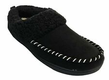 Dearfoams Women's Microsuede Memory Foam Clog Sherpa Slippers (Medium / 7-8)