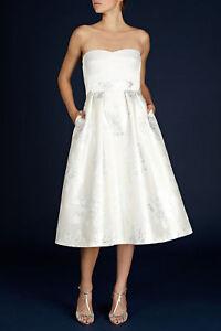 Coast Elia Ivory Bridal Wedding Midi Occasion Dress in Ivory UK8 EU36 RRP£220