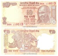 India 10 Rupees 2017  Letter L  P-New Banknotes  UNC