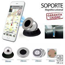 Soporte De Movil Para Coche Con Iman 360º Vehiculo Universal Magnético GPS Negro
