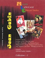 Jean Gabin Collection 1.  Region FREE. 5 movie.  French, English Subtitles