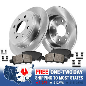 Rear Brake Rotors And Ceramic Pads For ACURA TL 1995 1996 1997 1998 2.5L ONLY