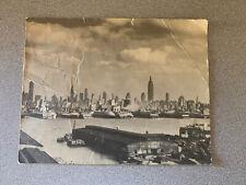 "Vintage Jumbo Postcard New York City 1947 7""x 9"""