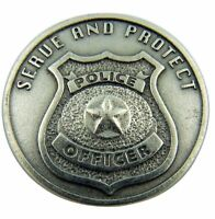 Serve and Protect Police Officer Pocket Token with Serenity Prayer on Back