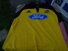 maillot de rugby Vintage Hurricanes Adidas XL jaune Nouvelle-Zelande