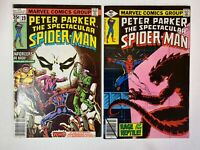 Peter Parker The Spectacular Spider-Man Lot of 2 Comics: Issues 19 32 Marvel
