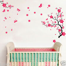 BUTTERFLIES & CHERRY BLOSSOM Removable Wall Decal for any living space decor