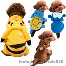Pet Dog Cats Clothes Costume Pikachu Squirtle 2018 Hot Pokemon Go Hooded Outfits