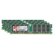 4GB 4X1GB DDR1-400Mhz PC3200 2.5V 184Pin Low Density Dimm Desktop SDRAM Memory15