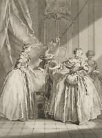 CARS; BOUCHER, Lit. Illust. zu Molières 'La Comtesse descarbagnas', 18. Jh., Rad