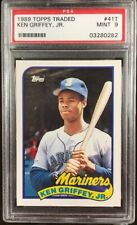 Lot of (5) Ken Griffey Mariners HOF 1989 Topps #41T Rookie Card rC PSA 9 QTY
