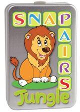Jungle Snap Pairs Childrens Animal Card Game Tin