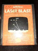 Laser Blast (Atari 2600, 1981) *BUY 2 GET 1 FREE +FREE SHIPPING*