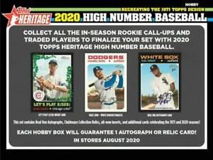 NEW YORK YANKEES 2020 TOPPS HERITAGE HIGH NUMBER Half CASE 6 BOX TEAM BREAK #4