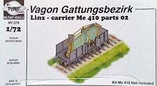 PLANET MODELS MV074 Eisenbahn Wagen Gattungsbezirk Linz w/parts 2 Resin Kit 1:72