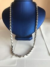 14k white gold thick chain  26 inch 6.5mm  solid gold! biker rocker ITALY