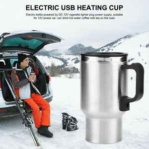 Auto Car Heating Thermos Travel Electric Kettle 500ml Vacuum Bottle Coffee Tea