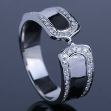 Solid 14k White Gold 0.3CT Natural SI/H Diamonds Wedding Band Ring Fine Jewelry