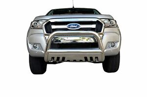"""Chrome Nudge Bar S/S 304 3"""" Grille Skid Guard for Ford Ranger 11-18 PX1 PX2"""