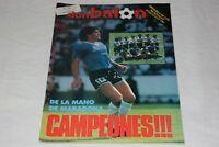 REVISTA DON BALON 559 DE 1986 DE MARADONA CAMPEON DE MUNDIAL 86
