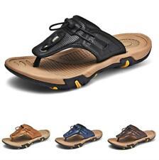 Mens Walking Flats Non-slip 46 Summer Slingbacks Thong Clip Toe Slippers Shoes D