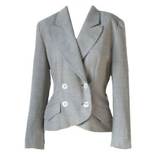 VTG KARL LAGERFELD Tweed Double Breasted Gray Blazer Jacket 36 / 6
