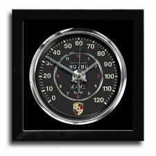 Speedometer Art Print Wall Clock 356 Black