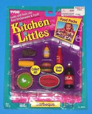 Tyco Kitchen Littles BARBEQUE BBQ Barbecue Steak hamburger Lime Pie Barbie Food