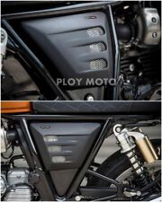 ROYAL ENFIELD INTERCEPTOR 650 TNT GT SIDE FRAME COVER SIDE FAIRING CUSTOM BLACK