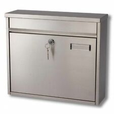 G2 Ouse Stainless Steel Post Mail Letter Box Postbox Mailbox