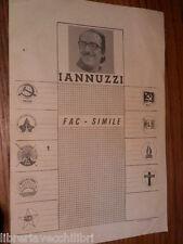 Vecchio volantino LINO IANNUZZI Partito Socialista Italiano elezioni politiche e