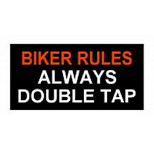 BIKER RULES ALWAYS DOUBLE EMBROIDERED IRON ON PATCH