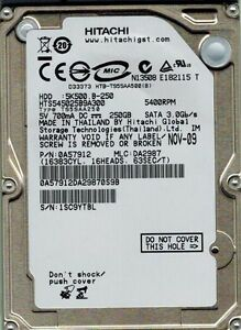 HITACHI HTS545025B9A300 250GB P/N: 0A57912 MLC: DA2987