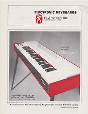 VINTAGE AD SHEET #2701 -  M HOHNER ELECTRONIC KEYBOARDS - CLAVINET C