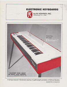 VINTAGE AD SHEET #2701 -  M HOHNER ELECTRONIC KEYBOARDS - CLAVINET C