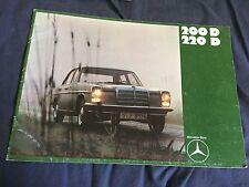 1971 Mercedes Benz 200D and 220D Sedans Brochure Catalog  Prospekt