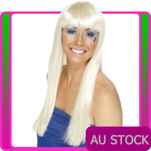 Ladies 70s Blonde Wig Dancing Queen Disco Lady 60s 1970s Wigs Costume Accessory