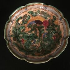 Antique English Large Majolica Fruit Bowl in the Italian Style 32cm Impressed