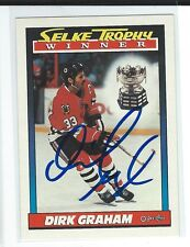 Dirk Graham Signed 1991/92 O-Pee-Chee Card #521