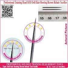 Training Head Barbie MLP BJD Doll Hair Rooting Reroot Reborn Needle kit Supplies