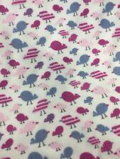 super soft fleece blanket Fabric Cute Bird Print