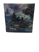 New Disney Cinderella Wishes Upon a Dream 750 Piece Puzzle Sealed Thomas Kinkade