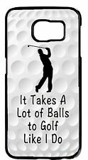 For Samsung Galaxy Models Funny Golf Ball Sport Quote Design New Back Case Cover