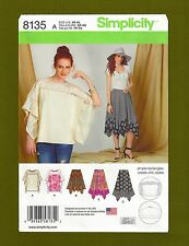 Easy Top & Handkerchief Hemline Skirt Sewing Pattern (XS-XL) Simplicity 8135