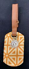 New Spartina 449 Luggage Tag with Daufuskie Island charm in Orange & Lime Green