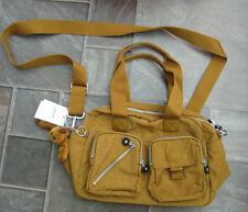 Bnwt Kipling Defea Golden Braun Handtasche mit Affe hasse RRP £ 74