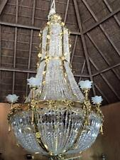 UNIQUE BIG CHANDELIER IN FRENCH LOUIS XVI STYLE.A MUST HAVE IN YOUR HOME!