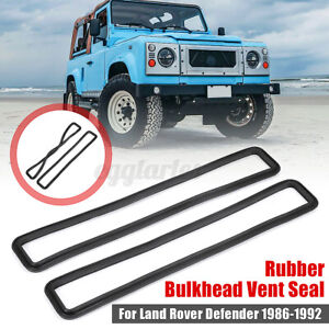 Pair Rubber Bulkhead Vent Seal For Land Rover Series & Defender 90 110 MUC4299