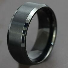 50 black wedding plain band  stainless steel rings Jewelry lots Wholesale